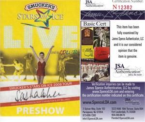 Sasha Cohen autographed 2008 Stars on Ice preshow pass (JSA)