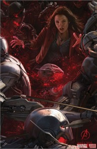 Scarlet Witch Avengers 2 Age of Ultron 2014 Comic-Con exclusive promo Marvel movie poster