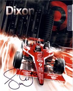 Scott Dixon autographed 2011 IRL 7x9 photo card