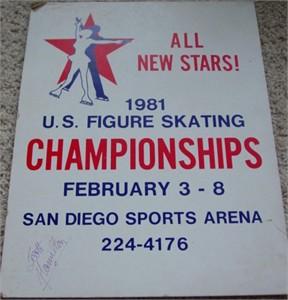 Scott Hamilton autographed 1981 U.S. Figure Skating Championships 11x14 sign