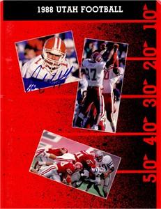 Scott Mitchell autographed Utah Utes 1988 media guide