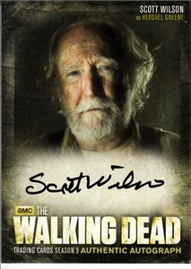 Scott Wilson certified autograph Walking Dead Season 3 Cryptozoic card #A11
