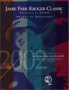 Se Ri Pak autographed 2002 LPGA Jamie Farr Kroger Classic program