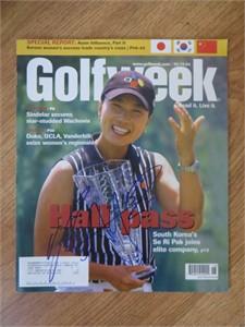 Se Ri Pak autographed 2004 Golfweek magazine