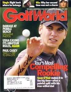 Sean O'Hair autographed 2005 Golf World magazine