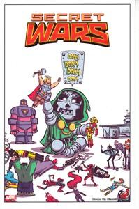 Secret Wars 2015 Comic-Con Marvel Comics artwork print by Skottie Young