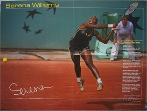 Serena Williams autographed Sports Illustrated for Kids 16x20 tennis poster