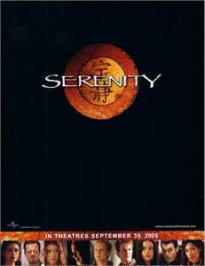 Serenity (Firefly) movie 2005 promo 8 1/2 x 11 inch cast photo card