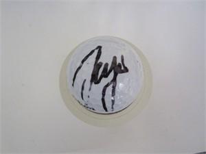 Sergio Garcia autographed golf ball
