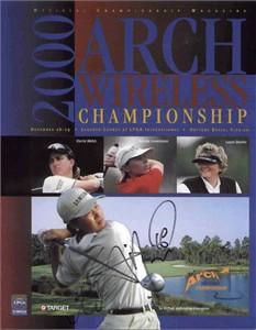 Se Ri Pak autographed 2000 LPGA Arch Wireless golf program