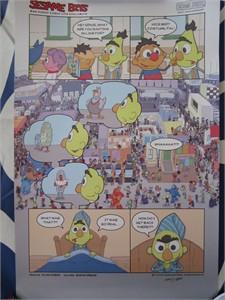 Sesame Street 2014 Comic-Con exclusive Sesame Bits 11x17 inch mini poster #/1500