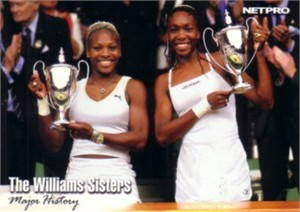 Serena & Venus Williams 2003 Netpro card