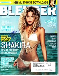 Shakira autographed sexy bikini cover 2005 Blender magazine