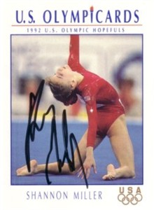 Shannon Miller autographed 1992 U.S. Olympic Hopefuls card