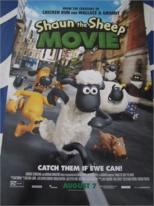 Shaun the Sheep set of 2 mini 2015 movie posters