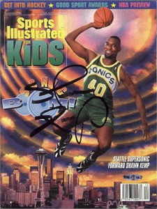 Shawn Kemp autographed Seattle Sonics Sports Illustrated for Kids magazine (UDA)