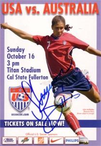 Shannon Boxx autographed U.S. Soccer postcard