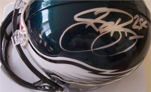 Sheldon Brown & Michael Lewis autographed Philadelphia Eagles mini helmet