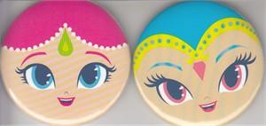 Shimmer & Shine 2016 Comic-Con Nickelodeon promo button or pin set