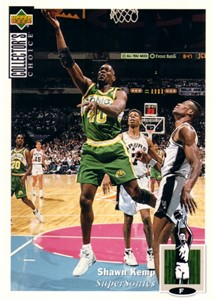 Shawn Kemp 1994-95 Upper Deck Collector's Choice 5x7 jumbo card