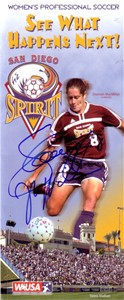 Shannon MacMillan autographed 2002 WUSA San Diego Spirit brochure