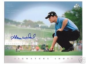 Shaun Micheel certified autograph SP Signature Golf 8x10 photo card