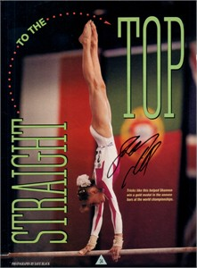Shannon Miller autographed full page magazine photo (Magnificent 7 gymnast)