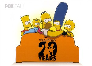 The Simpsons 20 Years 2009 Comic-Con 5x7 Fox promo card MINT