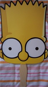 The Simpsons Bart Simpson promo fan