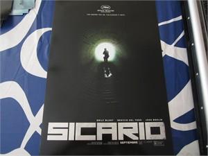 Sicario mini 13x20 movie poster (Emily Blunt Benicio Del Toro Josh Brolin)