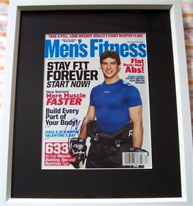 Sidney Crosby autographed Men's Fitness magazine cover matted & framed