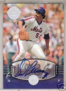 Sid Fernandez certified autograph New York Mets Upper Deck Legends card