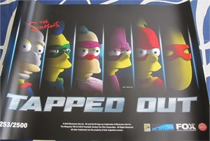 The Simpsons Tapped Out 2016 Comic-Con 18x24 promo poster #/2500