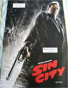 Sin City mini movie poster (Bruce Willis as Hartigan)