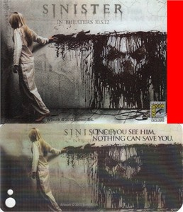Sinister 2012 movie Comic-Con lenticular promo card and iPhone 4/4S skin (Ethan Hawke)