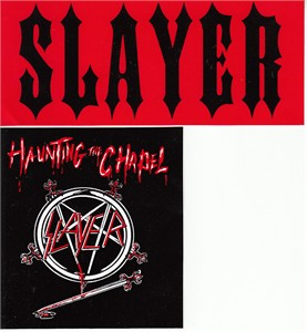 Slayer set of 2 decals or stickers