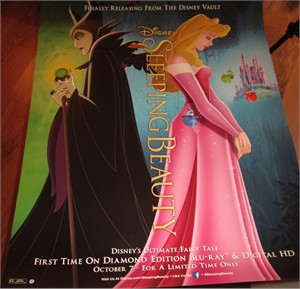 Sleeping Beauty movie 22x28 inch 2014 Diamond Edition Disney Blu Ray and DVD promo poster