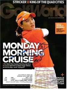 So Yeon Ryu autographed 2011 U.S. Women's Open Golfweek magazine