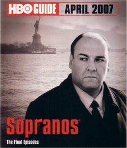 The Sopranos April 2007 HBO Guide booklet
