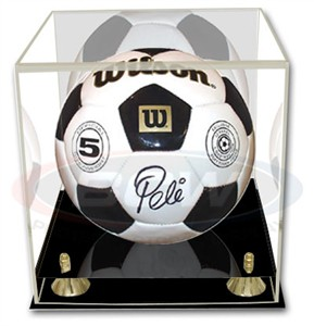 Soccer ball or volleyball acrylic display case