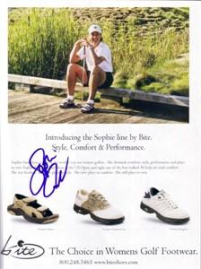 Sophie Gustafson autographed golf magazine ad