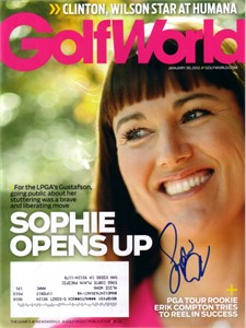 Sophie Gustafson autographed 2012 Golf World magazine