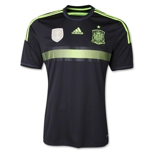 Spain 2014 FIFA World Cup authentic Adidas black jersey NEW WITH TAGS