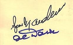 Sparky Anderson & Alvin Dark autographed plain paper or cut signatures (JSA)