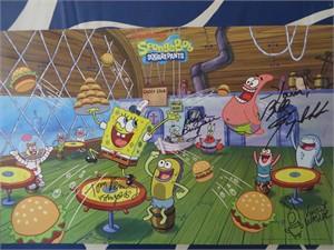 SpongeBob SquarePants cast autographed 2015 Comic-Con poster (Rodger Bumpass Bill Fagerbakke Tom Kenny)