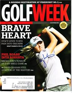 Stacy Lewis autographed 2011 Kraft Nabisco Championship Golfweek magazine