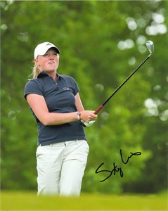Stacy Lewis autographed 8x10 golf photo