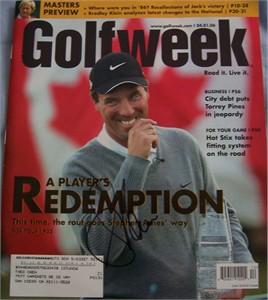 Stephen Ames autographed 2006 Golfweek magazine