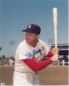 Stan Musial autographed St. Louis Cardinals 8x10 color photo
