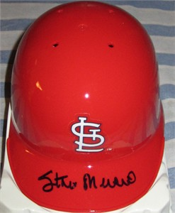 Stan Musial autographed St. Louis Cardinals mini batting helmet